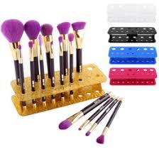 acrylic makeup brushes holder stand 15hole storage bo cosmetic organizer tools brush showing rack make up brush display shelf