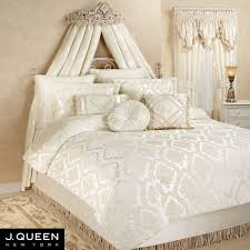 ivory comforter set queen pertaining to estate chenille medallion bedding by j new york ideas 3