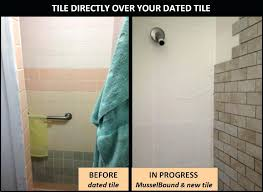 can you put tile over tile shower wall tile