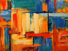 daily painters abstract colorful oil painting