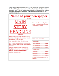 Creating A Newspaper Template Newspaper Template Free Download Edit Fill Create And