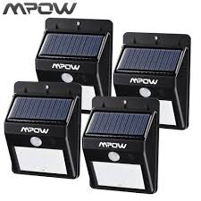 Us 1661 Mpow Solar Powerd Draadloze Led Security Bewegingssensor Licht Outdoor Tuin Lamp Met Auto Onoff Functionfor Patio Tuin In Mpow Solar