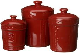 Designer Kitchen Canister Sets Amazoncom Signature Housewares Sorrento Collection Canisters