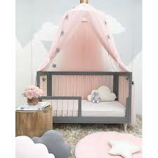 Mosquito Net, Outgeek Girls Princess Romantic Mosquito Netting Curtain Dome Bed Canopy Anti Mosquito Net for Kids Toddler Bedroom Nursery Decor Pink ...