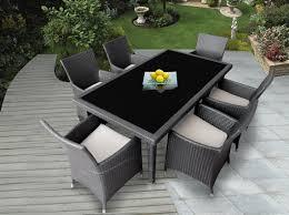 genuine ohana outdoor patio wicker furniture 7pc all grey wicker patio dining chair
