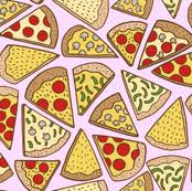 pizza pattern wallpaper.  Pizza Pizza Party  Pink With Pizza Pattern Wallpaper Spoonflower