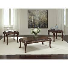 3 Piece Living Room Table Set Signature Design By Ashley Florrilyn 3 Piece Coffee Table Set