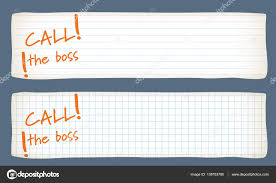Two Banners With Lined Paper Graph Paper And The Words Call