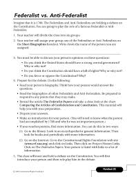 federalists papers 16 handout 2c federalist vs