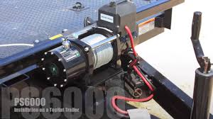 pierce ps6000 winch installation on a top hat trailer