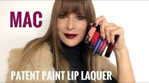 <b>Mac</b> Patent Paint Lip Laquer Review סקירה וסווטצ׳ינג - YouTube