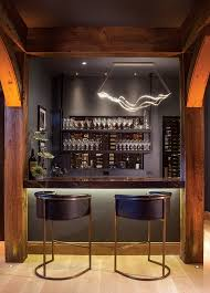 Tech lighting surge linear Daksh Tech Lightings Surge Linear Suspension Light Energizes The Bar 1stoplightingcom Having It All In This Crested Butte Home