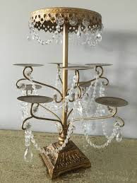 gold and crystal chandelier cupcake stand collection boho blush
