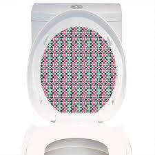 Light Pink Toilet Seat Cover Amazon Com Toilet Seat Sticker Novelty Retro 60s Home Decor