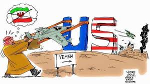 Image result for SAUDI WAR IN YEMEN CARTOON
