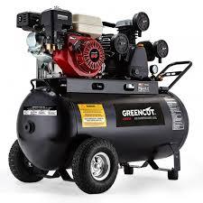 compresor de aire de gasolina. compresor autónomo con depósito 120l motor gasolina 6.5cv-greencut de aire s