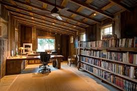 home office cabin. Office Cabin Ceiling Design Home Rustic With Sisal Area Rug Library Wallceiling Fan O