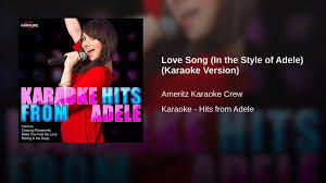 love song in the style of adele karaoke version