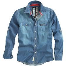Surplus Mens Raw Vintage Jeans Shirt 06 5007 Color Dark