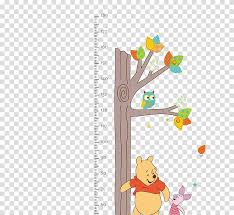 Child Growth Chart Growth Chart Wall Decal Child Sticker Winnie The Process Of