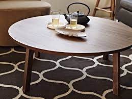 coffee table excellent brown round modern wood round coffee table ikea varnished design wonderful