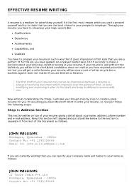 Effective Resume Effective Resume Writing 46