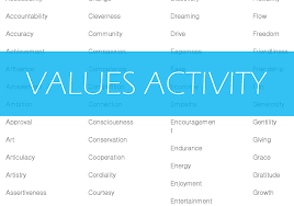 values activity how to start grow and scale a private practice values list page 1