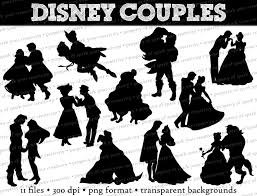 Small Picture Disney Princess and Prince Silhouettes Disney Couples