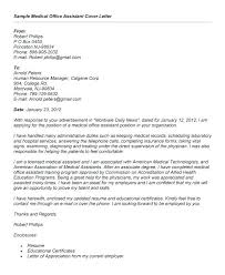 Cover Letter For Medical Office Cool Sample Of Cover Letter For Medical Assistant Cover Letter For