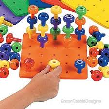 Wooden Peg Board Game Toy Peg Boards eBay 60