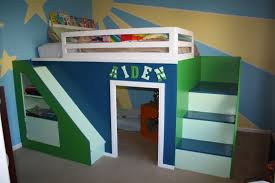 bedroom built in bunk designs loft with desk diy stairs and underneath ana white my