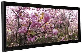 black panorama frame displays 30 x 10 prints