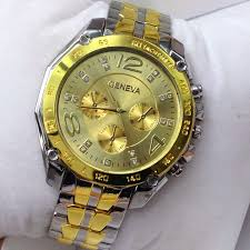aliexpress com buy electronic new geneva men watches quartz aliexpress com buy electronic new geneva men watches quartz business rhinestone fashion gold and silver stainless steel analog wristwatches jl 72 from
