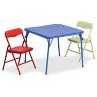 Flash Furniture Kids Colorful 3-Piece Folding Table and Chair Set Buy Toddler Kid Sets | Bed Bath \u0026 Beyond