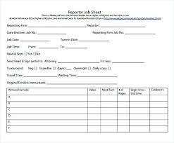 Free Job Sheet Template Workshop Card Download Service