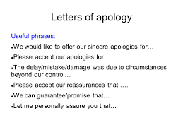 Doc 7281031 Apology Letter To Customer For Mistake Doc7281031