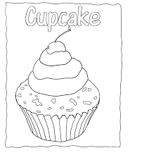 Small Picture Free Printable Cupcake Coloring Pages For Kids Coloring Home