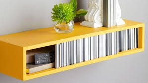 Bright Yellow Floating Shelf