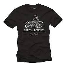 Makaya Maglietta Motociclista T Shirt Con Stampa Moto Uomo Amazon