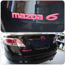 Blue Thermometer Light Mazda 3 Mazda 6 Black With Pink Emblems Pink Car Accessories