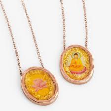 francisca botelho rose gold buddha and lotus flower necklace enlarge image cocina gift