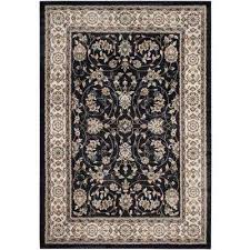 lyndhurst anthracite cream 4 ft x 6 ft area rug