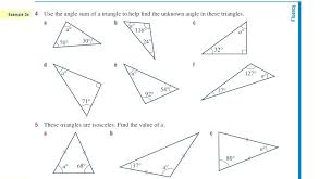 Cool Triangle Interior Angles Worksheet Triangle Interior Exterior ...