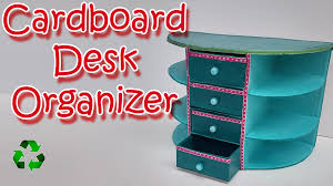 Diy Desk Organizer How To Make A Cardboard Desk Organizer Ana Diy Crafts Youtube