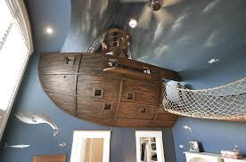 stunning kids room design with custom pirate ship bridge and a whole lot more