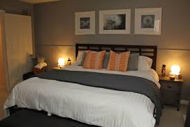 gray and orange bedroom. image of: what colors go with grey bedroom gray and orange
