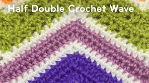 Double Crochet Chevron Pattern Classy How To Half Double Crochet A Wave Afghan Tutorial The Crochet Crowd