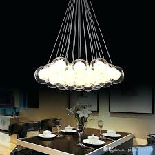 glass multi pendant lights multi bulb pendant light newest modern led glass ball pendant lights led