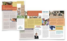 Microsoft Publisher Format Realtor Real Estate Agency Newsletter Template Word