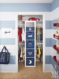 the wire bin system used in this tween closet makeover via the organised housewife would be relatively inexpensive to implement and i like the added option